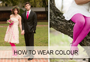 Sweet Pins how to wear colorful hosiery style guide